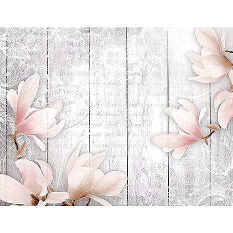 Fototapeten Blumen Vintage Grau 352 x 250 cm Vlies Wand Tapete Wohnzimmer  Schlafzimmer Büro Flur Dekoration Wandbilder XXL Moderne Wanddeko Flower ...