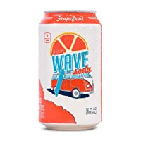 New Wave Soda Natural Soda Canned Fruit Juice, Grapefruit, Healthy Soda Caffeinated Sparkling Water | Vegan, Keto, Gluten Free Soft Drink, No Added Sugar or Artificial Flavors, Recyclable, 12 Pack