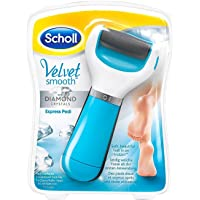 Scholl Velvet Smooth Express Pedi Foot File With Diamond Crystals (Blue)