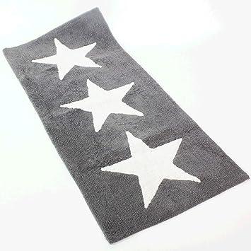 Xxl Badematte Stars Grau Mit Latex Ruckseite 70 X 150 Cm
