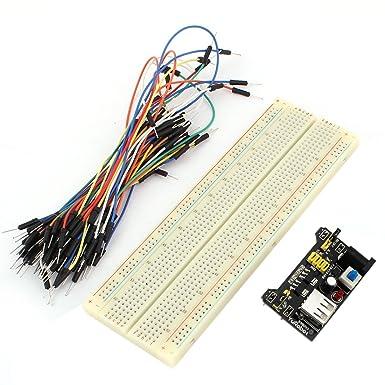 sourcing map Sourcingmap® módulo de alimentación del Cable Puente Establecido MB102 sin Soldadura Tablero de