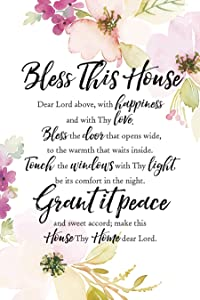 """Dexsa Bless This House Woodland Grace Series 6"""" x 9"""" Wood Plaque with Easel"""