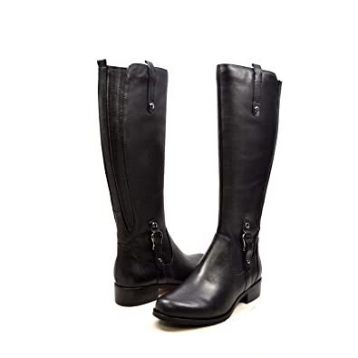 43dca839b62 SoleMani Venetian 13 quot  Slim Calf Women s Black Leather Boot 5.5