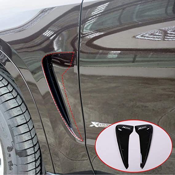 Amazon.com: YUECHI Car Styling for BMW Xdrive Emblem X5 F15 X5M F85 2014 2015 2016 2017 2018 Shark Gills Side Fender Vent Mesh Decoration 3D Stickers Grille Auto Exterior Accessories (Black+White): Automotive