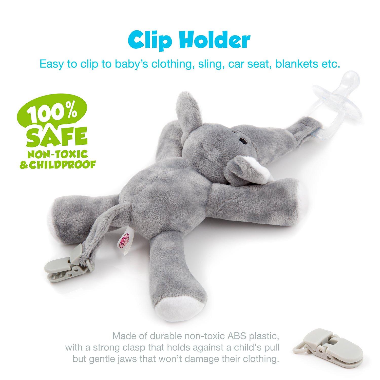 babyhuggle elephant pacifier stuffed animal binky