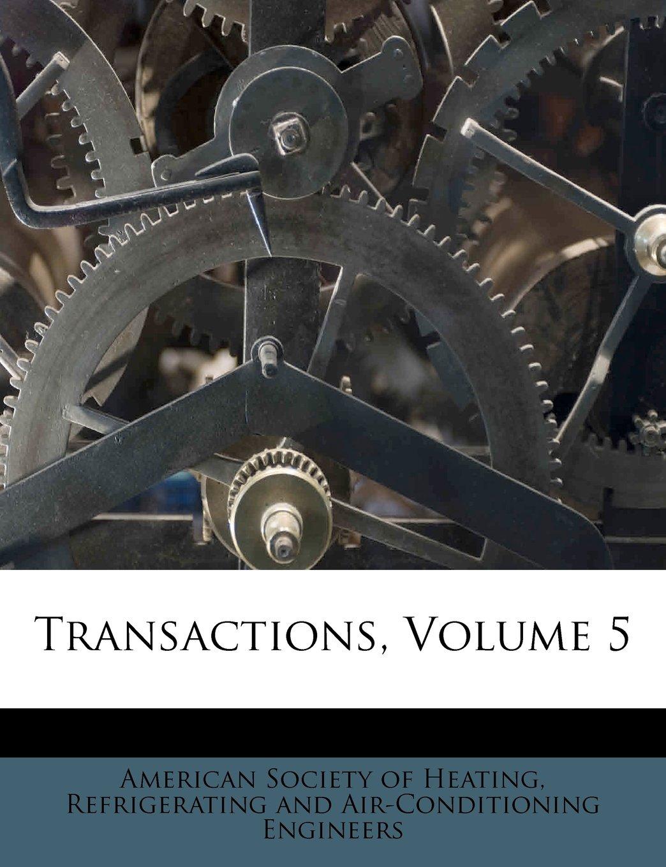 Download Transactions, Volume 5 pdf epub