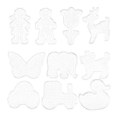 10pcs Pegboards for Perler Beads Kids Pegboard Template Board Hama Fuse Bead Clear Square Design Board: Hogar