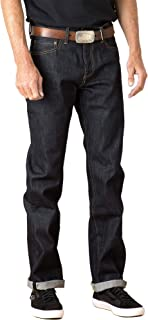 product image for Tellason Made in USA Men's Ankara 16.5 oz Kaihara Raw Selvedge Denim Classic Straight Leg Jeans