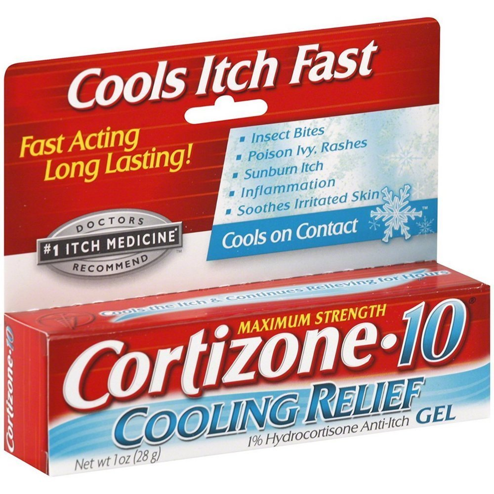 Cortizone-10 Cooling Relief Anti-Itch Gel 1 oz (Pack of 4) by Cortizone 10