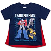 Transformers Toddler Boys Cape Shirt Cape Tee - Optimus Prime and Bumblebee