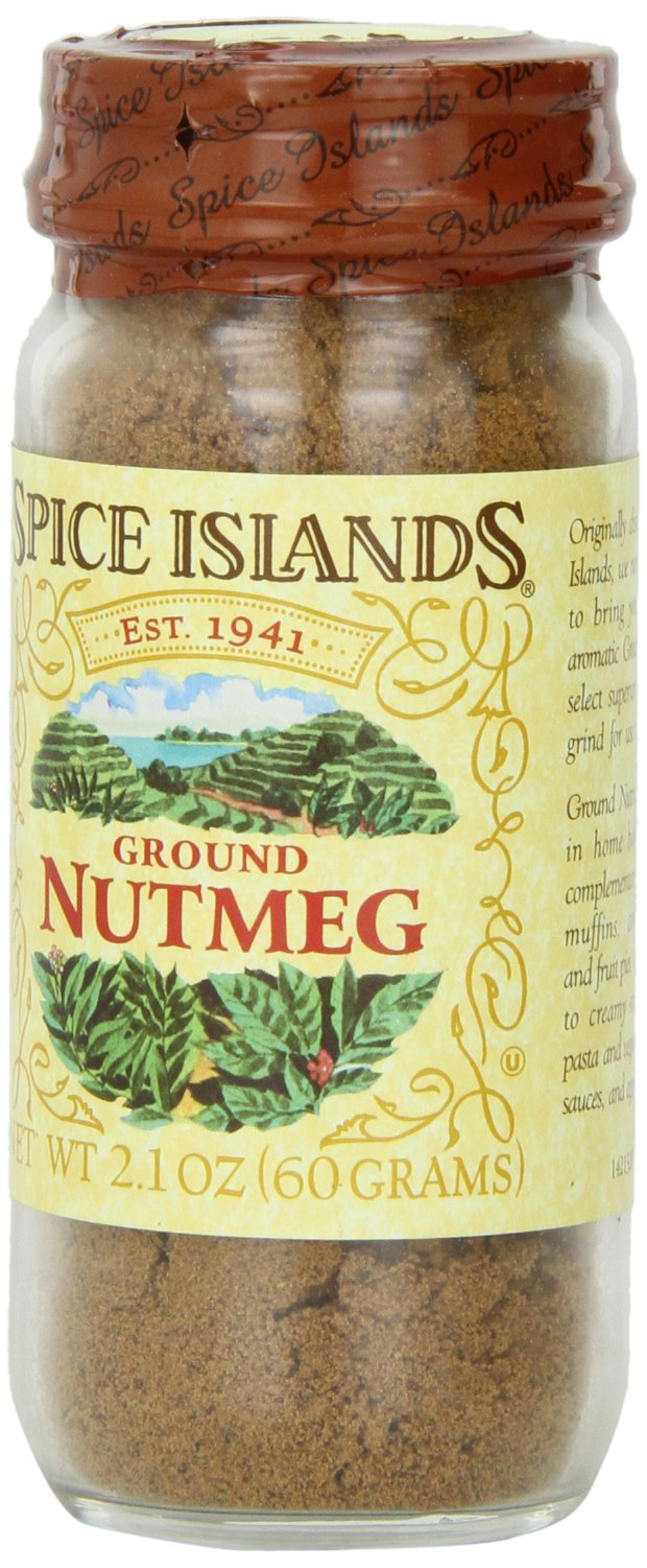 Spice Islands Nutmeg, Ground, 2.1-Ounce (Pack of 3)