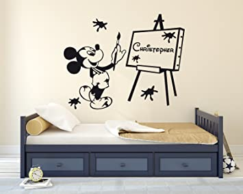 Amazon Com Custom Name Mickey Mouse Artist Paint Theme Kids