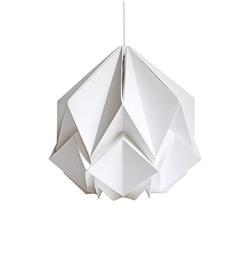 Origami Blanc Hanahi MainHandmade Suspension Neige Fait UqzMGpSV