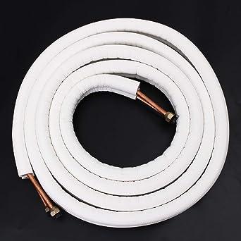 1M 1M TuToy 1//2//4M Tuyau De Cuivre Isol/é 1//4 3//8 Air Conditioner Pipes Pair Coil Tube