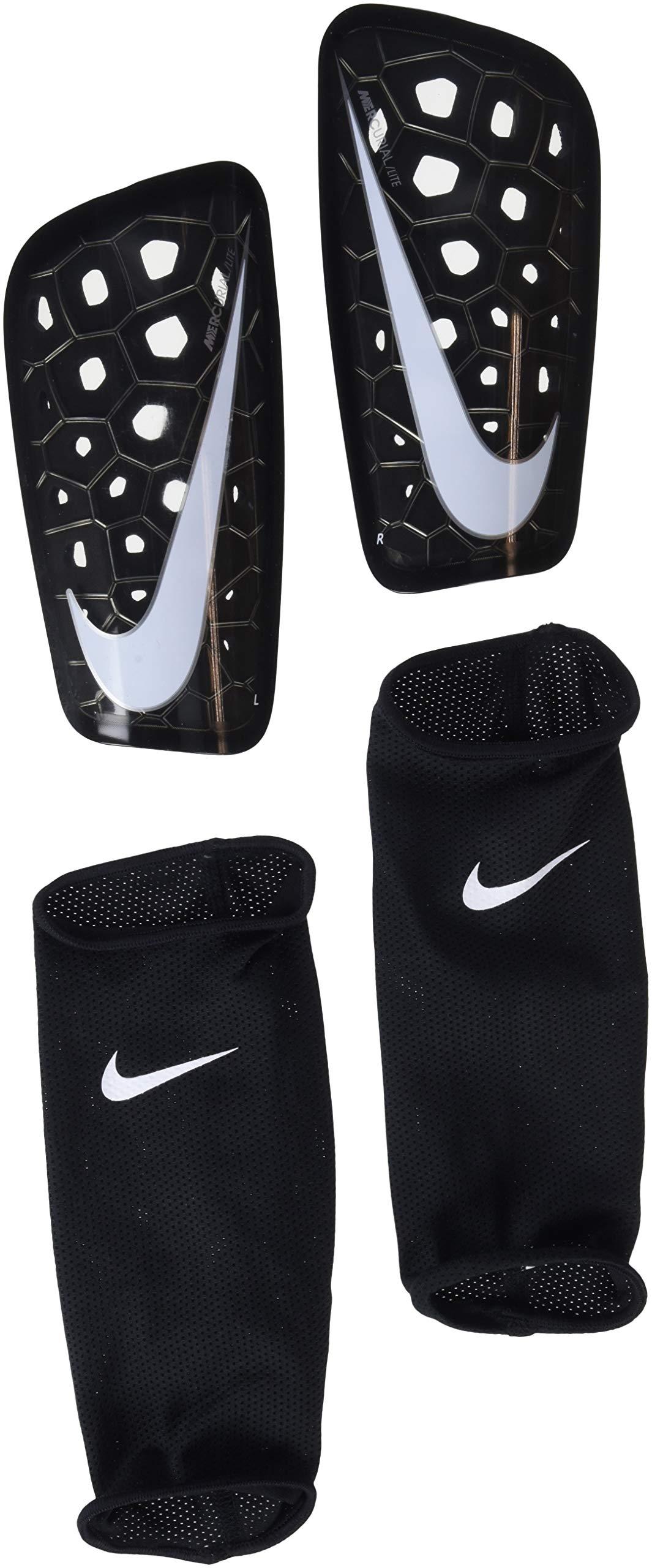 Nike Mercurial Lite Soccer Shin Guards (Medium, Black) by Nike