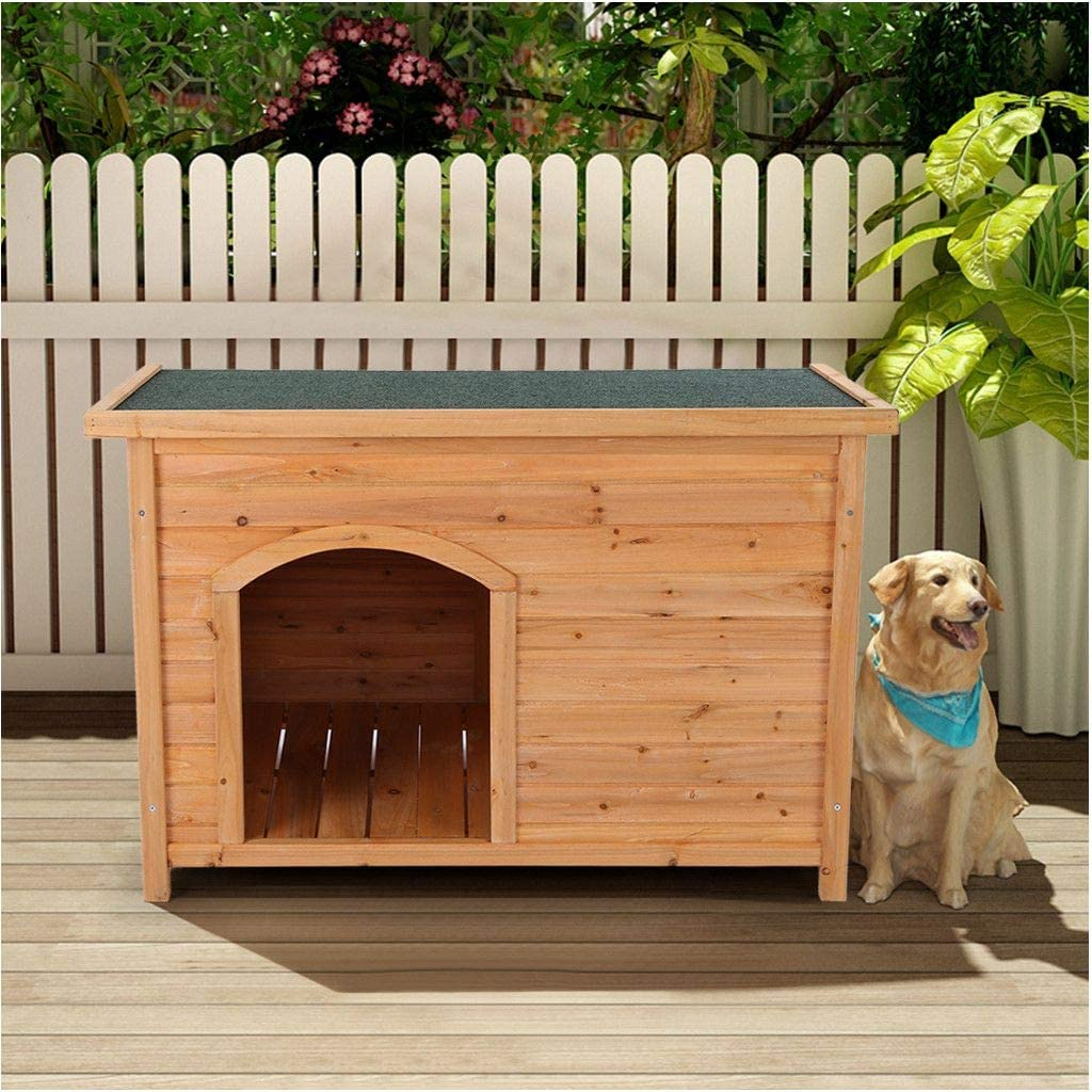 Dog House Outdoor | Indoor Wooden Pet House for Large Dog and Cat, Weather-Resistant Wood Log Cabin,Wooden Dog House Home Shelter (XL, from US)