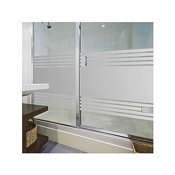 LAVICOM Sichtschutzfolie von ORAFOL® Dusche Sauna Schwimmbad Duschkabine  Bad WC Badezimmer Streifendesign Glasdekorfolie