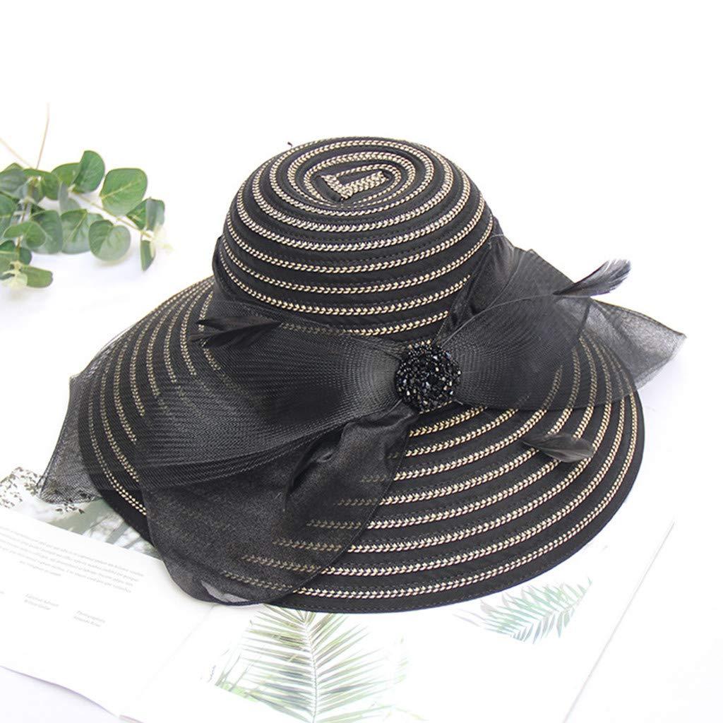 LOPILY Sombrero de Playa Elegante Arco Sombrero De Verano Parasol ...