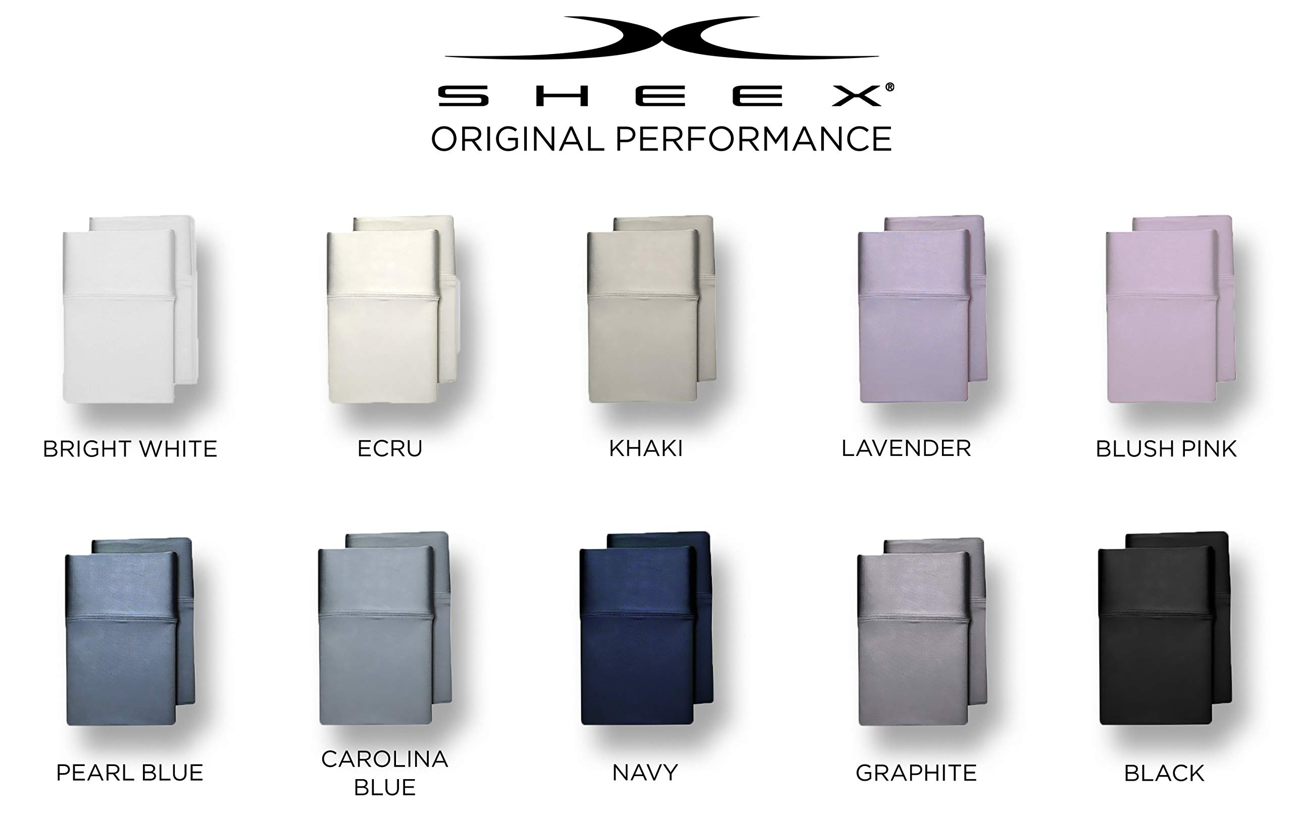SHEEX - Original Performance Pillowcases (Set of 2), Ultra-Soft Fabric Transfers Body Heat and Breathes Better Than Traditional Cotton, Graphite (King)