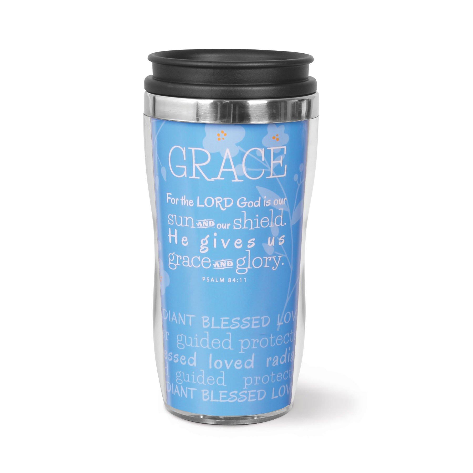 Lighthouse Christian Products Grace Wavy Acrylic/Stainless Steel Tumbler Mug, 13 oz