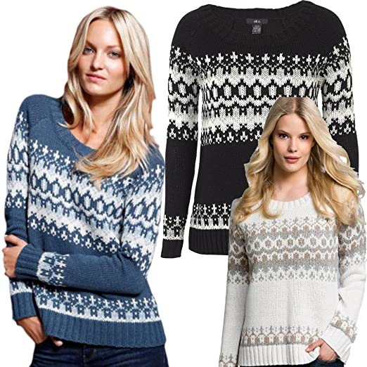 Ladies Fairisle Jumpers Sizes 12 - 26 Plus Size Wool Alpaca ...
