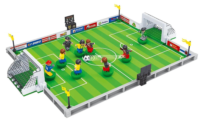 BRICK-LAND スポーツ版ビルディングブロック玩具セット 9人のサッカー選手とゴールネット付きサッカー場 対象年齢6歳以上 251ピース   B01MQGXAON