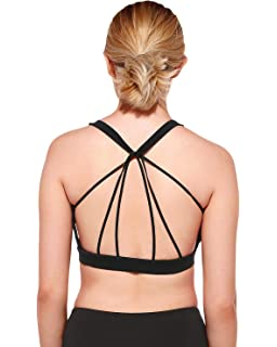 523d002493367 Klorify Women s Hollow Sexy Criss Cross Bandage Sports Bra for Girl ...