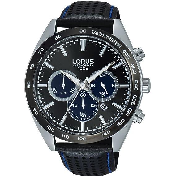 Lorus Caballeros reloj cronógrafo negro RT309GX9