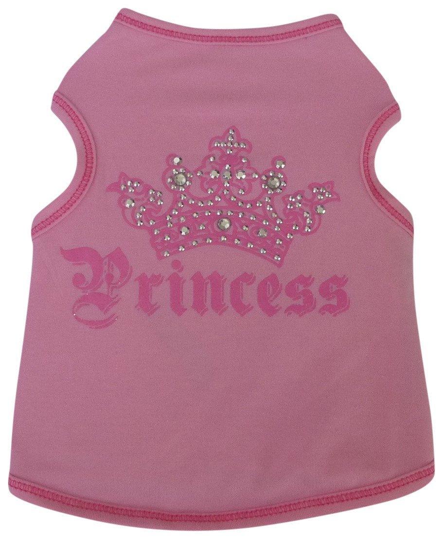 I See Spot 928559PNK3 Crown Princess Pink Dog Pet t-Shirt Tank-Tshirts, Small