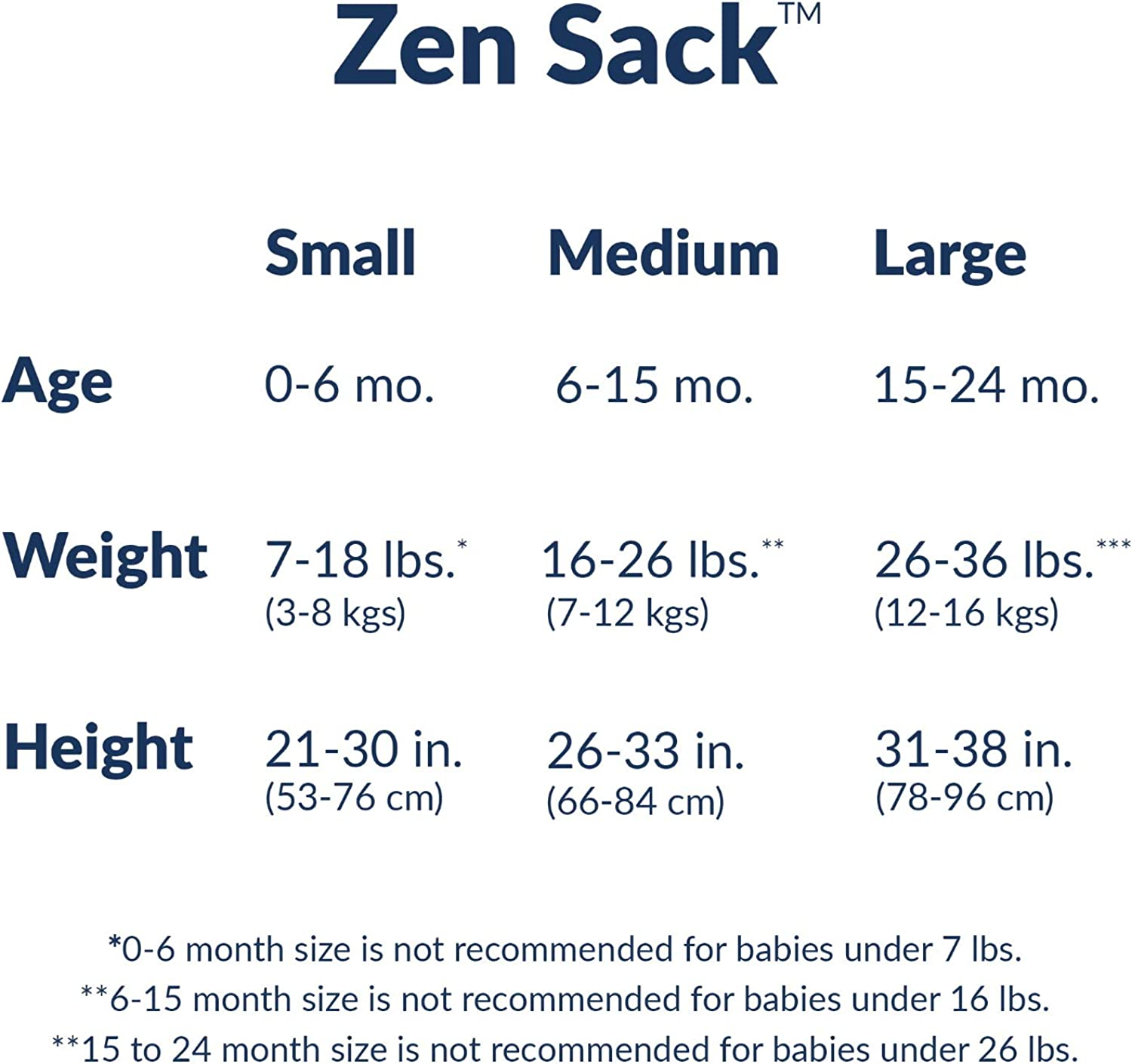 Nested Bean Zen Sack Classic Baby Sleeping Bag Adjustable Cotton Wearable Blanket