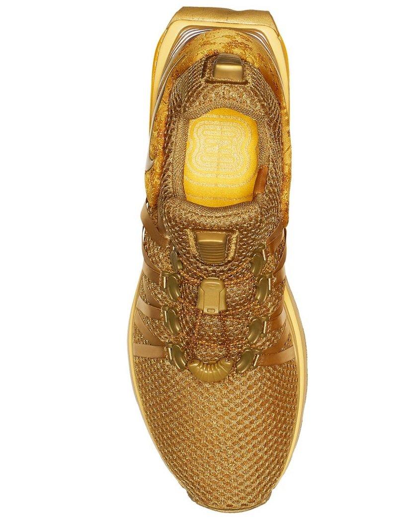 458471961ca Womens Nike Shox Gravity Running Shoes Metallic Gold Yellow AQ8554 ...