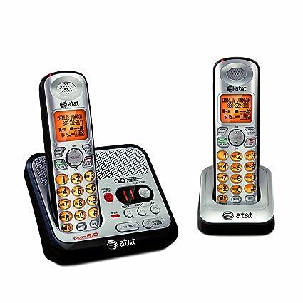 amazon com at t el52200 2 handset dect 6 0 cordless phone with rh amazon com at&t el52200 dect 6.0 cordless phone user manual Instruction Manual Example