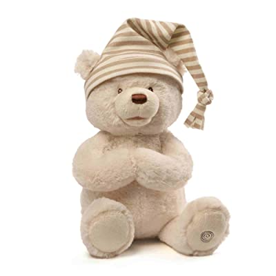 "GUND Animated Goodnight Prayer Bear Spiritual Plush Stuffed Animal, 15"": Gund: Toys & Games"