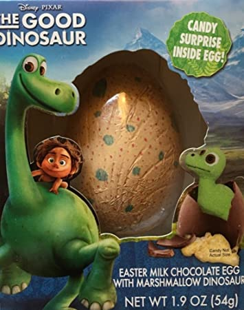 disney the good dinosaur eater milk chocolate egg with marshmallow dinosaur inside 19 oz - Dinosaure Disney