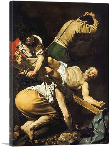 ARTCANVAS Crucifixion of Saint Peter 1600 Canvas Art Print