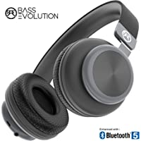 Bass Evolution Latitude Bluetooth 5.0 Wireless Headphones with Microphone, Deep Bass and Noise Isolation