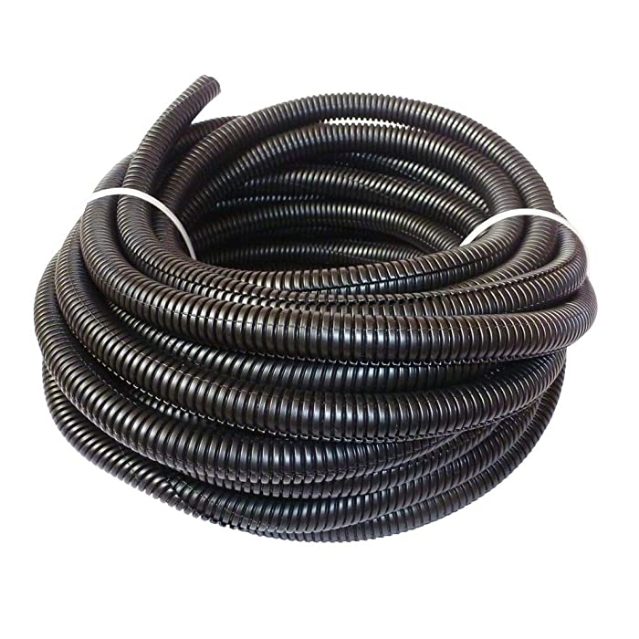 Cacovedo 30 ft Dog Cat Cord Protector Electric Wires Covers Wire Loom Tubing Protect Wires from Rabbits, Cats and Other Pets -Inner Diameter 1/2 inch
