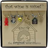 Wine Things WT-1471P A Dog Life Wine Charms, Painted