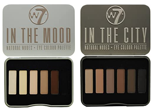 3 opinioni per W7 In The City & In The Mood Natural Nudes Eye Shadow Palette Set by W&