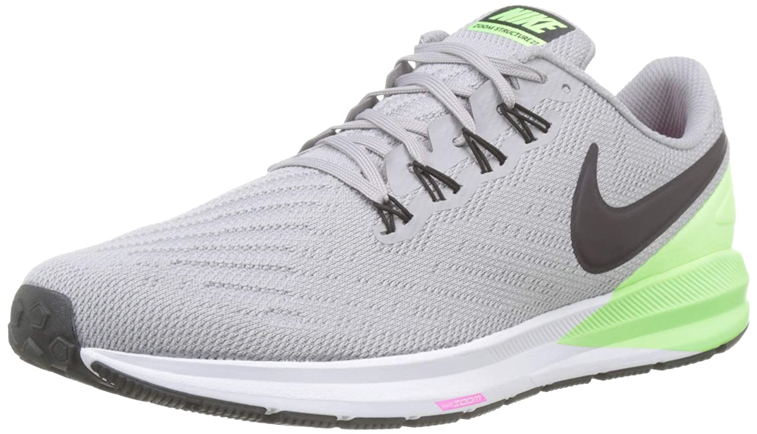 MultiCouleure (Atmosphere gris Burgundy Ash Lime Blast 004) Nike Air Zoom Structure 22, Chaussures d'Athlétisme Homme 44.5 EU