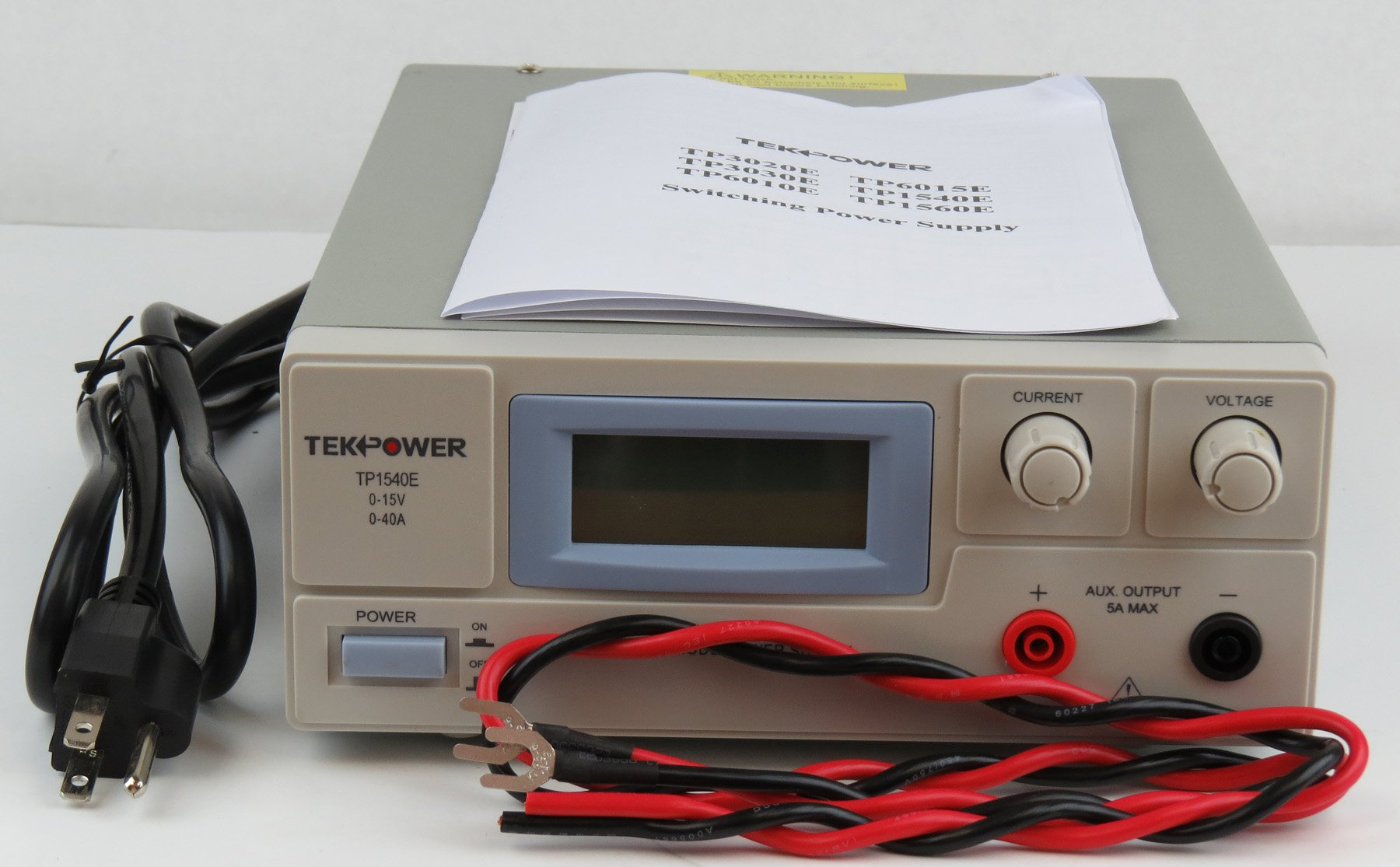 TekPower TP1540E DC Adjustable Switching Power Supply 15V 40A Digital Display by Tekpower (Image #5)