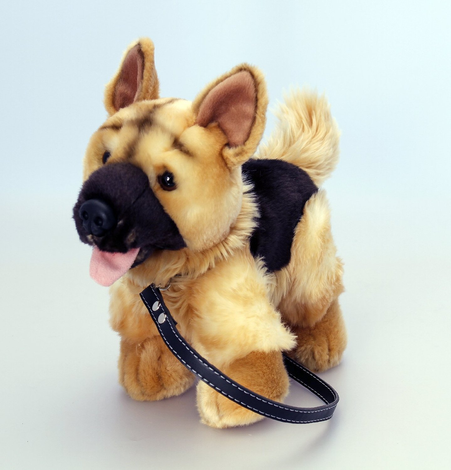 Keel 30cm Soft Toy Alsatian German Shepherd Dog on Lead Amazon