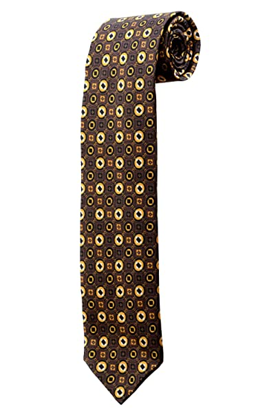 Oh La Belle Cravate Corbata marrón con diseño psicodélicas diseño ...