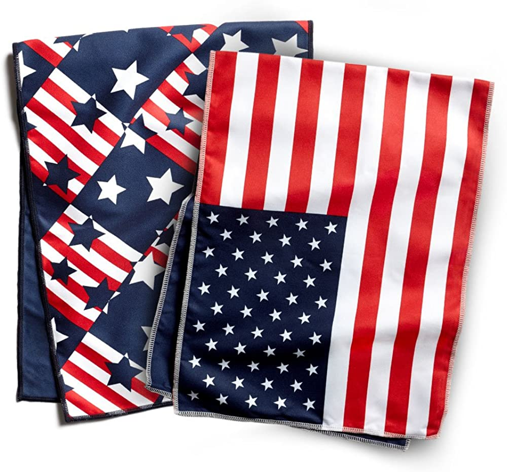 Mission Americana and Flag Print Cooling Towel (2-Pack), One Size