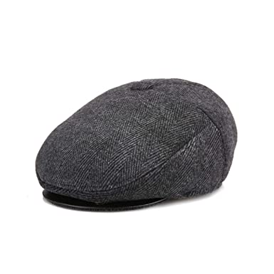 1599f729 Winter Velvet Thicken Warm Newsboy Hats Men with Earflap for Male ...