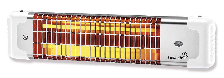Voltman DIO080812 - Calefactor de infrarrojos, acero, 600 W / 1200 W, 61 x 15 x 13 cm, color gris: Amazon.es: Hogar