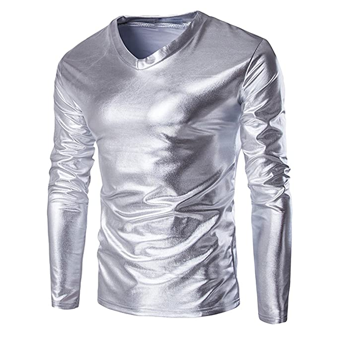 costume Camicie bling Di Prestazione Slim Paillettes Da Fit Uomo EWxoQerBdC