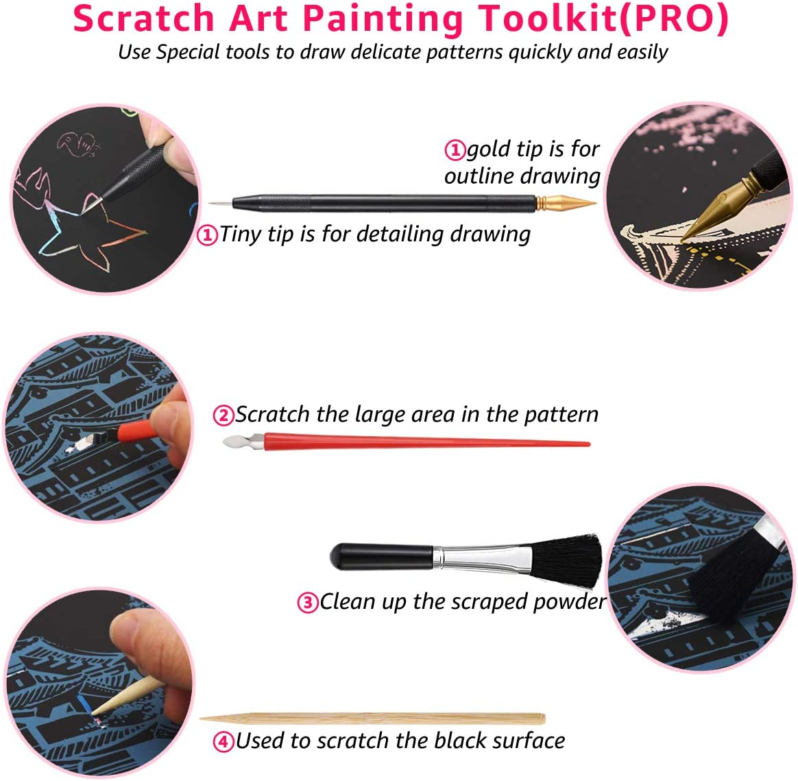 Scratch Art Rainbow Painting Paper Animal A4 DIY Crafts Womens Hobbies Animal Series Engraving Art for Kids /& Adults Scratch Painting Easter /& Christmas Birthday Creative Gift Set: 8 Sheets