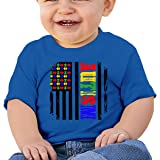 Love Autism Awareness Baby Boys Girls Short Sleeve Crew Neck T Shirts 6-18 Month Tops
