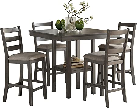 Amazon Com Homelegance 5 Piece Pack Counter Height Dinette Set